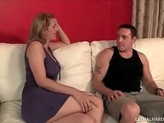 Milf Examines Step Daughter`s Boyfriend 1