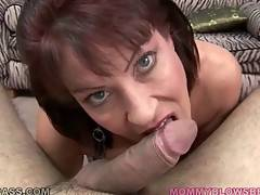 Slutty Breasted Lady Slurps Thick Cock 1